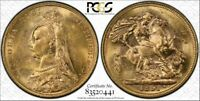1891M SOVEREIGN JUBILEE HEAD S-3867C MCD183A PCGS MINT STATE 61