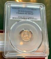 1856-O  H10C SEATED HALF DIME  PCGS AU   SHARP COIN  GREAT LUSTER