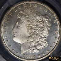 1880-CC MINT STATE 65PL PCGS 1$ MORGAN DOLLAR, A  PROOF-LIKE GEM WITH GREAT MIRRORS