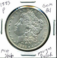 1883 P GEM BU/MS MORGAN DOLLAR UNCIRCULATED 90 SILVER $1 MINT STATE COIN WC830
