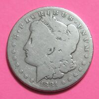 1881 $1 MORGAN SILVER DOLLAR