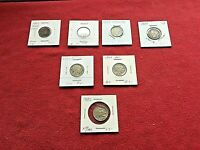1869 SHIELD NICKEL   1883 NO/WITH CENTS   1934 D  F    1937/1937 S  XF/AU