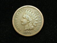 COLLECTIBLES SALE F 1879 INDIAN HEAD CENT PENNY W/ PARTIAL LIBERTY 27J