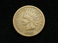 COLLECTIBLES SALE F 1882 INDIAN HEAD CENT PENNY W/ PARTIAL LIBERTY 30J