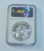 1990 US $1 AMERICAN SILVER EAGLE DOLLAR  NGC MINT STATE 69 SAE