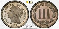 1878 PROOF NICKEL THREE CENT PIECE PCGS PR 66