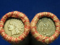 SHOTGUN PENNY ROLL FULL OF INDIAN HEAD CENTS @ OLD COLLECTIBLE COINS 1859 1909 @