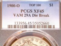 1900-O $1 MORGAN SILVER DOLLAR, VAM 29A  R.6,  TOP 100, PCGS CERTIFIED EXTRA FINE 45