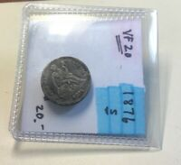 1876 S SEATED LIBERTY DIME VF CONDITION