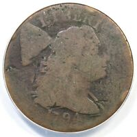 1794 S-53 R-6 ANACS AG 3 DETAILS LIBERTY CAP LARGE CENT COIN 1C