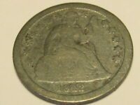 1842-P SEATED LIBERTY DIME VG