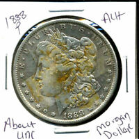 1888 P AU MORGAN DOLLAR 90 SILVER COIN ABOUT UNCIRCULATED COMBINE SHIP$1 C1351