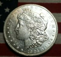 1904-P MORGAN SILVER DOLLAR  BU BRIGHT WHITE  EYE APPEAL  STRIKE