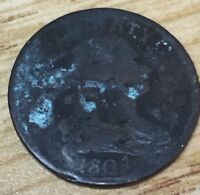 1804 1/2C  DRAPED BUST HALF CENT