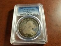 1800 DRAPED BUST SILVER DOLLAR, PCGS GENUINE, G DETAIL, DAMAGE   INV05   G501