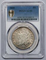 1808 CAPPED BUST HALF DOLLAR, O-104, R.2 AU50 PCGS SHIELD FREE PRIORITY SHIPPING