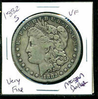 1882 S VF MORGAN DOLLAR  FINE 90 SILVER US  COMBINE SHIP $1 COINWC1397