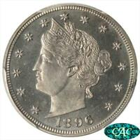1896 LIBERTY V NICKEL PCGS PR 65 CAC