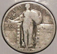 STANDING LIBERTY SILVER QUARTER - 1929-D - OVERSTOCK - $1 UNLIMITED SHIPPING-E20
