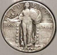 STANDING LIBERTY SILVER QUARTER - 1930-S - OVERSTOCK - $1 UNLIMITED SHIPPING-E24
