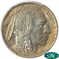 1916-D BUFFALO NICKEL PCGS MINT STATE 64 CAC