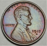 1917-S LINCOLN WHEAT CENT NEAR GEM UNCIRCULATED UNC SAN FRANCISCO MINT 1C COIN