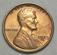 1929-S LINCOLN WHEAT CENT ALMOST UNCIRCULATED DETAILS SAN FRANCISCO MINT 1C COIN