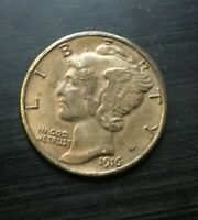 1916 D  MERCURY DIME ESTATE FIND  LOOK