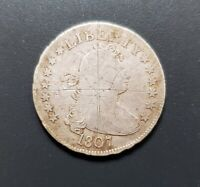 1807 DRAPED BUST   EARLY SILVER QUARTER 25C   LOW MINTAGE