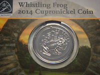 BERMUDA 25 CENTS  2014 WHISTLING FROG  2 000 MINT