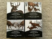 2014 CANADA WHITE TAILED DEER 4X 1OZ SILVER PROOF COIN SET CHALLENGE PORTRAIT