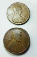 LOT 1919 P & 1919 D WHEAT CENT SHIPS FREE