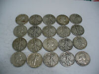 LOT OF 20  USA  HALF DOLLAR SILVER COINS  50 CENT PIECES   90   JUNK   LOT B