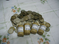 LOT OF 25  PRE 1967  CANADA SILVER COINS  DIMES  1/2 ROLL 10 CENTS   JUNK  80