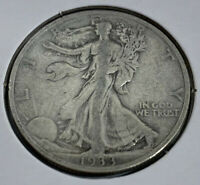 1933-S WALKING LIBERTY SILVER HALF DOLLAR  SAN FRANCISCO MINT  VF AWESOME COIN