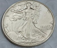 1939 WALKING LIBERTY HALF DOLLAR, BLAST WHITE SUPERB GEM BU