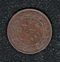 CANADA 1 CENTS 1907 H