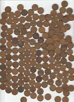 WHEAT CENTS 1910 1911 1912 1913 1914 1915 1916 1917 LOT OF 180 SOME MINTMARKS
