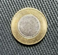 ERROR COIN   BLANK 10 RS BIMETALLIC COIN  INDIA   COOL COLLE