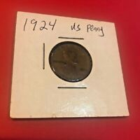 1924 LINCOLN CENT WHEAT CENT CIRCULATED WORLD