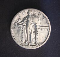1920-D 25C STANDING LIBERTY QUARTER,  IN THIS CONDITION,  HIGH GRADE