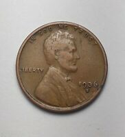 1936 S LINCOLN WHEAT CENT PENNY -  GRADE  FREE SHIP