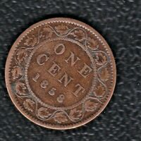 CANADA 1 CENTS 1858
