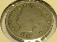 1910 LIBERTY HEAD NICKEL VG