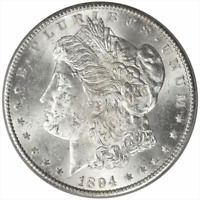 1894-S MORGAN SILVER DOLLAR PCGS MINT STATE 62  FROSTY WHITE SELECT UNCIRCULATED