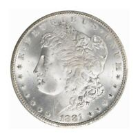 1881-CC $1 MORGAN DOLLAR PCGS MINT STATE 66 3168-4 BLAST WHITE