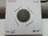 1842-O  10C SEATED LIBERTY DIME  VF   TOUGH DATE------- COIN