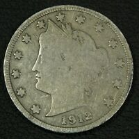 1912 S LIBERTY V NICKEL - REVERSE DING