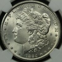 1884 CC CARSON CITY MORGAN SILVER DOLLAR NGC MINT STATE 63????? LOOKS WAY BETTER