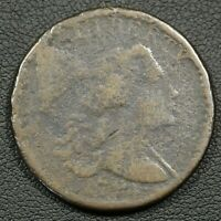 1794 FALLEN 4 S-63 LIBERTY CAP FLOWING HAIR COPPER LARGE CENT - CORROSION